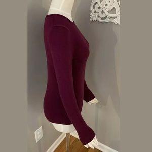 Ann Taylor Luxury Cashmere Sweater Women's Purple
